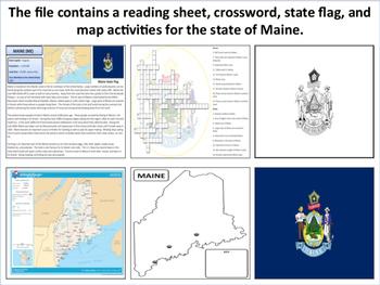 Maine - State Activity Set