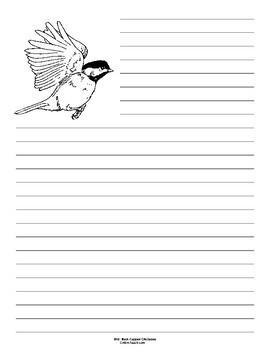 Maine State Bird Notebooking Set (Black-Capped Chickadee)