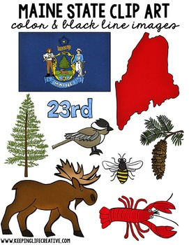 Maine State Clip Art