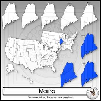 Maine State Clip Art USA Map