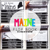 Maine State Flipbook Interactive Activity for Social Studies