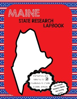 Maine State Research Lapbook Interactive Project