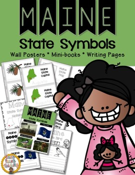 Maine State Symbols Notebook