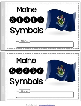 Maine State Symbols Notebook