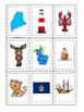 Maine themed Memory Matching and Word Matching preschool c