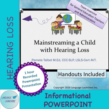 staff training mainstreaming a child w hearing loss recorded