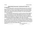Maintaing Homeostasis: Experimental Design Lab