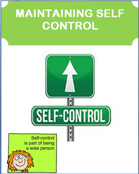 Self Control-How to Maintain it - lesson plan, and 2 activities