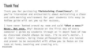 Maintaining Cleanliness and First Day How-To's: A Teacher Guidebook