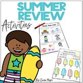 Summer Packet - Review to Avoid the Summer Slide - Kindergarten to 1st