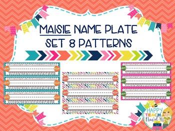 Maisie class decor desk name plates
