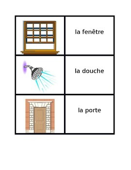 Maison (Full House in French) Concentration  games