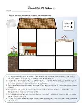Maison/ House - Reading Comprehension- French/FSL/FLE