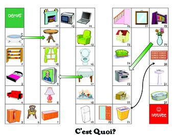 Maison/ House themed Snakes and Ladders game - French/FSL/FLE