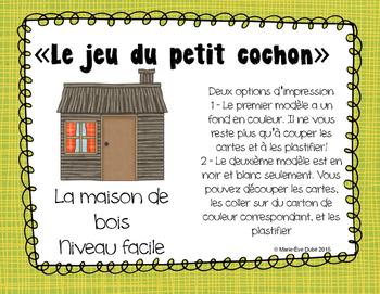 Maison de bois FACILE - Jeu du petit cochon