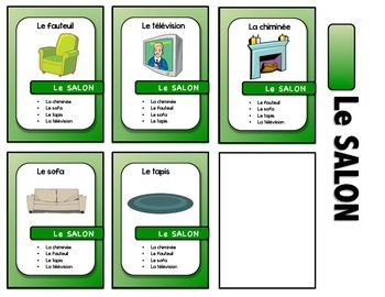 "Maison/Meubles French card game - ""7 familles style"""