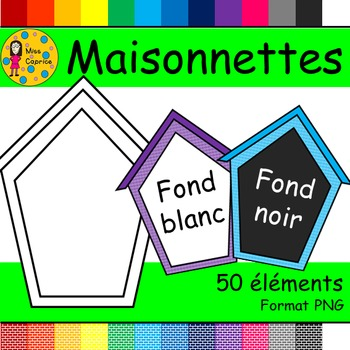 Maisonnettes - Clip arts (Little houses)