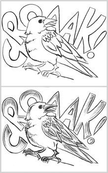 Maître corbeau : projet d'arts plasitques -Automne et Halloween