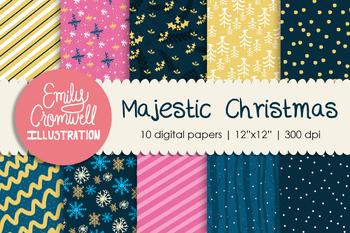 Majestic Christmas Digital Paper