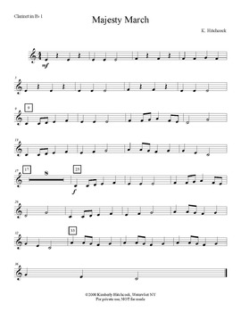 Majesty March – Very Easy Beginning Band arrangement