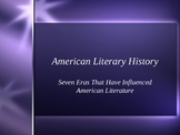 Major American Literary Eras PowerPoint