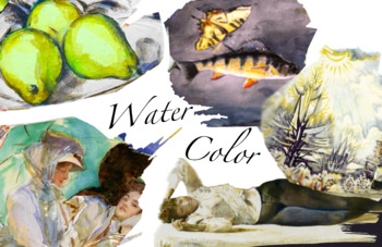 Major Artists & Watercolor ~ Art History ~ FREE POSTER ~ C