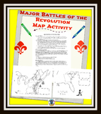 Major Battles of Revolution MAP Activity