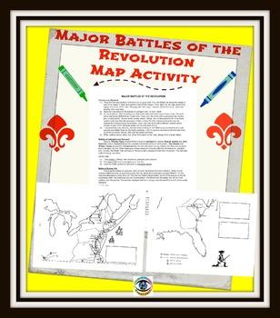 Major Battles of Revolution MAP Activity