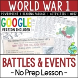 World War 1 Battles, World War I, WW1, WWI; Distance Learning