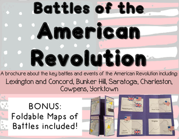 Major Battles and Events of the American Revolution Brochure