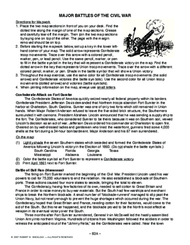 Major Battles of the Civil War AMERICAN HISTORY LESSON 83 of 150 Fun Map Ex+Quiz