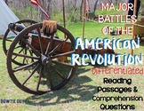 Major Battles of the Revolutionary War Differentiated Passages and Questions