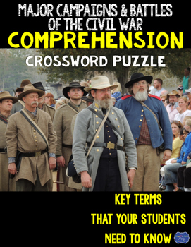 Major Campaigns and Battles of the Civil War Crossword