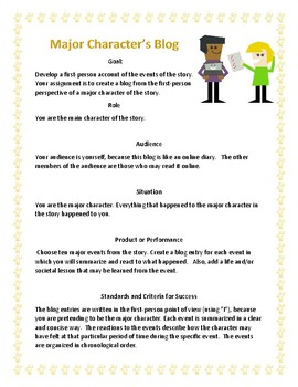 Major Character's Blog Project (pdf)