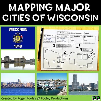 Major Cities of Wisconsin, Mapping Locations activity