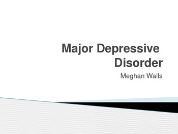 Major Depressive Disorder (MDD) in Children