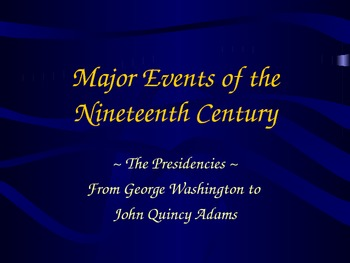 Major Event First Half of the 19th Century