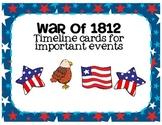 War of 1812 Timeline Cards