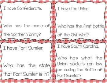 Major Events of the Civil War Interactive Vocabulary Game