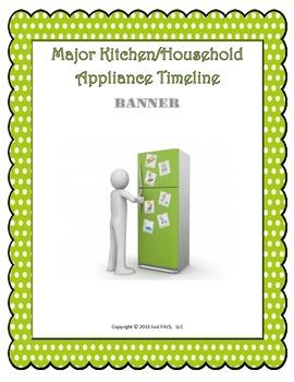 Major Kitchen/Household Appliance Timeline Banner