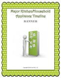 Major Kitchen/Household Appliance Timeline Banner