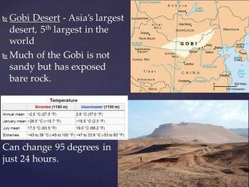 Major Landforms and Water Features of China Annotated Map Lesson
