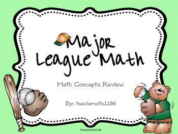 Major League Math: Math Concepts Review