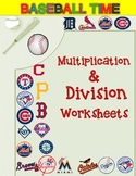 Multiplication and Division Worksheets-MLB