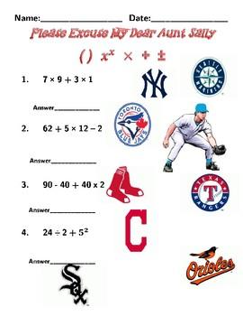 Baseball Order of Operations