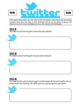 "Major & Minor Character Reflection - ""Twitter"" Activity"