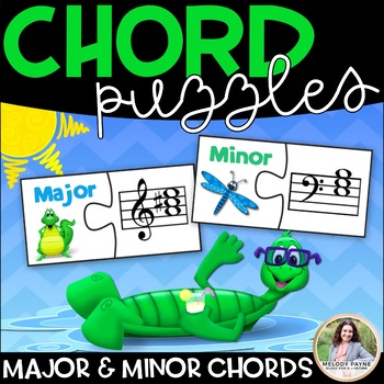 Major & Minor Chord Puzzle Cards {Treble and Bass Clef Chord Puzzles}