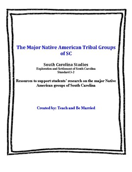 Major Native American Groups of SC
