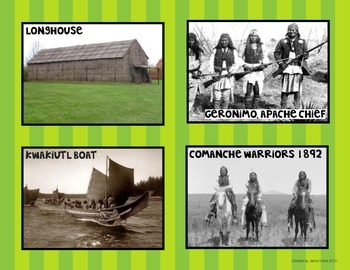 Major Native American Regions: Sorting & Writing