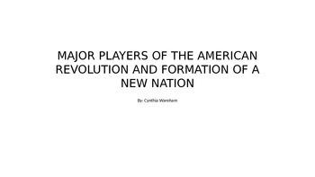 Major Players of the American Revolution